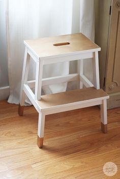 diy painted stool, dipped furniture look