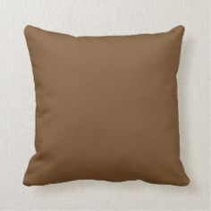 Shop Solid Cool Brown Thanksgiving Autumn Color Throw Pillow created by M_Blue_Designs. Custom Pillows, Decorative Throw Pillows, Brown Pillows, Vintage Stamps, Blue Design, Cool Stuff, Solid Colors, Blankets, Home Decor