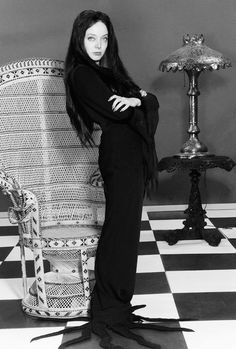 """ Carolyn Jones as Morticia Addams on The Addams Family, 1960s """