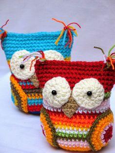 Amigurumis . Cosas Lindas: Patrones Crochet Cow, Crochet Birds, Diy Crochet, Crocheted Owls, Amigurumi Patterns, Crochet Patterns, Little Birds, Stuffed Animal Patterns, Knitting Projects