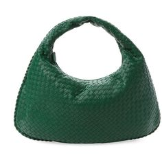 Bottega Veneta Women's Intrecciato Nappa Large Hobo - Green (114.885 RUB) ❤ liked on Polyvore featuring bags, handbags, shoulder bags, green, hobo shoulder handbags, green hobo handbag, bottega veneta, hobo shoulder bags and green shoulder bag