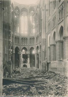 Destroyed Cathedral France WWI 2