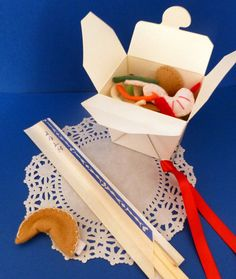 Felt Food House Special Lo Mein Noodles Pretend food on Etsy, $20.00