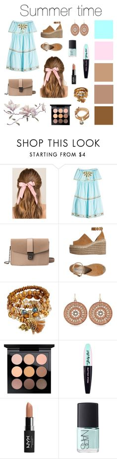 """Summer time"" by mary-my-may ❤ liked on Polyvore featuring Francesca's, Nina Kaufmann, Marcela Yil, Jessica Simpson, MAC Cosmetics, L'Oréal Paris, NYX, NARS Cosmetics, Mulberry and Summer"