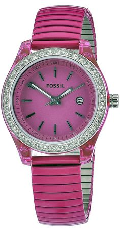 #Fossil Women's Mini Stella Expansion Crystal Bezel Stainless Steel Date #Watch Es2909
