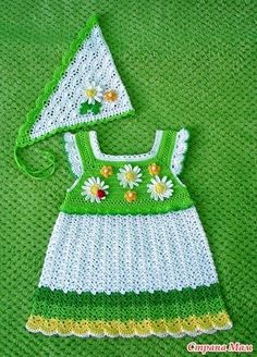 """Dress """"Daisies"""" and kerchief """""""