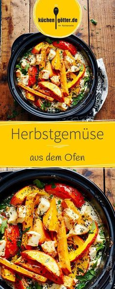 Are you looking for a healthy and quick recipe for the end of the day? Try these low-calorie oven-baked vegetables with pumpkin and sweet potatoes. Autumn vegetables from the oven Sabine Rojahn sabine_rojahn Essen und Trinken Are you looking for a Oven Baked Vegetables, Roasted Vegetables, Vegetable Recipes, Vegetarian Recipes, Healthy Recipes, Healthy Cooking, Healthy Eating, Cooking Recipes, Hallowen Food