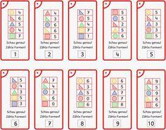 Lernstübchen: Formen zählen (2) Lösungsfächer