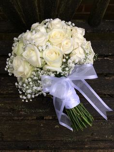#gypsophiliawedding #rusticbarnwedding #gypsophiliabouquet #rose&gypsophiliabouquet www.weddingflowercompany.co.uk Cascading Wedding Bouquets, Rose Bridal Bouquet, Wedding Brooch Bouquets, Bride Bouquets, Bridal Flowers, Floral Bouquets, Floral Wedding, Tulle Wedding Decorations, Homecoming Flowers