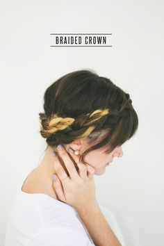Hair Tutorial // Braided Crown
