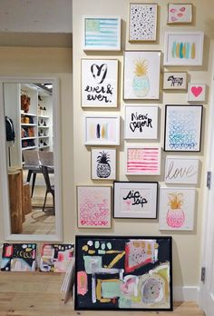 Decor- wall ideas with pineapples-Made By Girl: Made By Girl + Madewell Event NYC