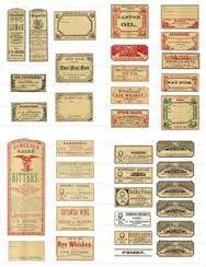 printables for miniature chemist shop - Google Search