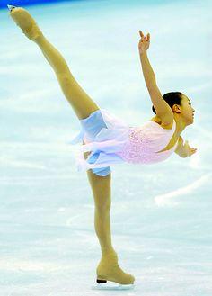 Figure Skating Mao Asada / arabesque spiral - figure skater by yellowrotus, via Flickr