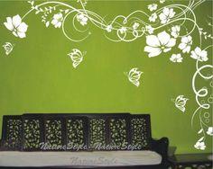 Flower Vinyl Wall Decal via Etsy.