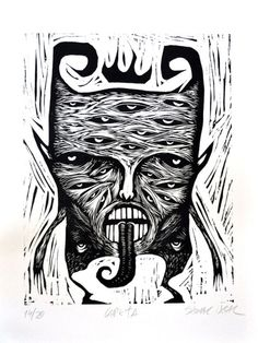 Scratchboard, Sgraffito, Linocut Prints, Printmaking, Screen Printing, Cool Pictures, Drawings, Illustration, Etchings