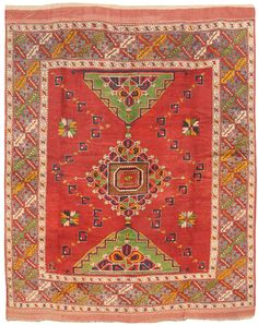 Antique Bergama Rug 6.7 X 8.5 - Fred Moheban Gallery