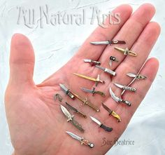 Watch parts sculpturesGallery of Custom Watch Parts Sculptures — All Natural Arts All The Small Things, Mini Things, Cool Knives, Knives And Swords, Clay Miniatures, Dollhouse Miniatures, Steam Punk Jewelry, Miniture Things, Miniature Dolls