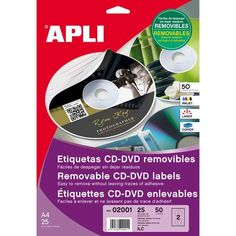 Comprar Etiquetas Cd/Dvd Mate y Removibles Apli 02001 #multimedia #etiquetas #blancas #CD #DVD #mega #mate #remobible