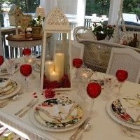 Romantic Candlelight Valentine's Day Table Setting
