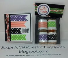 Halloween Card & Treat Bag Decorated With Washi Tapes