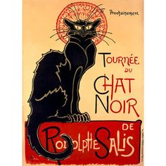 Tournee Du Chat Noir Wood Sign