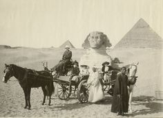 Mr. and Mrs. Louis Bailey Audigier of Knoxville at Great Sphinx (1912-1913)