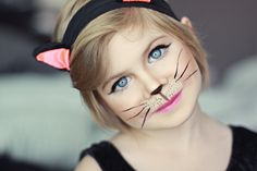 Cat makeup, kid costume www.sunkissedandmadeup.com
