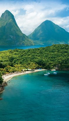Saint Lucia's exotic beauty truly captures the luxuriant allure of the Caribbean. There are three Sandals Resorts on the island of St Lucia, and if you stay at 1 you play at all Vacation Places, Dream Vacations, Vacation Spots, Romantic Vacations, Italy Vacation, Honeymoon Destinations, Romantic Travel, Beautiful Places To Travel, Wonderful Places