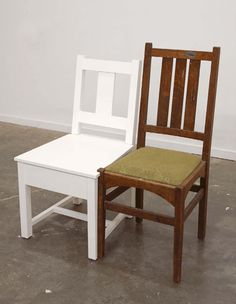 """Roy McMakin - """"My Slatback Chair With Another One"""""""