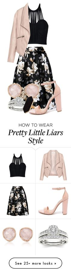 """Pretty Little Liars: 6x11-Thalia Gardner"" by grandmasfood on Polyvore featuring Monica Vinader, Posh Girl, Zizzi, Jaeger and Steve Madden"
