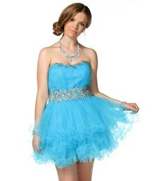Daphne-Turquoise Prom Dress