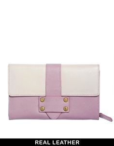So pretty! ASOS Leather Purse In Colourblock