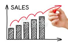 Sales Growth Graph Royalty Free Stock Photo