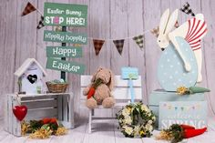 Bunny Easter Spring Backdrop for Photography SH604 – Dbackdrop Easter Backdrops, Muslin Backdrops, Custom Backdrops, Background For Photography, Photography Backdrops, Happy Easter, Easter Bunny, Green Grass Background, Picture Backdrops