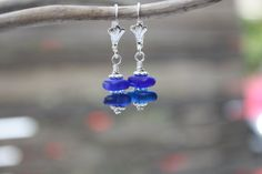 Cobalt Blue Sea Glass Jewelry Hawaiian Jewelry by DRaeDesigns, $8.00