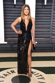 Jennifer Aniston In Atelier Versace - At the Vanity Fair Oscar Party