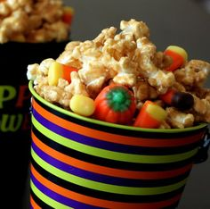 Halloween Carmel Popcorn