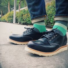Richer Poorer socks, Nudie Thin Finn jeans and Chippewa oxfords.