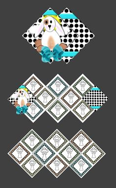 SALE!!!  Squash Scrapbook Digital Format  Polka Dot Bunny  by SimplyDRave, $8.00