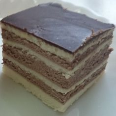 """""""Opera Cake is a type of French cake. It is made with layers of almond sponge cake (known as Joconde in French) soaked in coffee syrup, laye. Sponge Cake Easy, Sponge Cake Roll, Lemon Sponge Cake, Sponge Recipe, Sponge Cake Recipes, Easy Cake Recipes, Dessert Recipes, Keto Desserts, Italian Sponge Cake"""