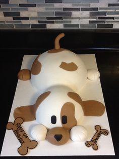 Puppy dog cake! I love him!!!
