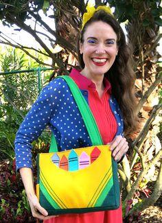 Cassie Stephens: DIY: The Crayon Tote