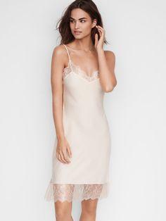 Dream Angels Satin Slip Lace Slip, Satin Slip, Silk Slip, Lace Bridal Robe, Wedding Lingerie, Night Dress For Women, Victoria Secret Lingerie, Pretty Lingerie, Lingerie Sleepwear