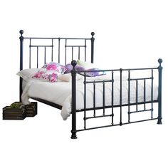 The Fullerton metal bed frame features a unique blend of traditional and contemporary design. With Victorian/industrial inspired design features, the Fullerton is a striking piece that will stand out in any bedroom. Leather Bed Frame, Brass Bed, Metal Beds, Bedroom Decor, Bedroom Ideas, Discount Designer, Antique Brass, Contemporary Design, Branding Design
