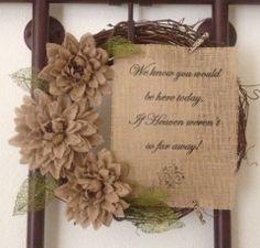 Primitive Grapevine Twig Wreath If Heaven Weren't by PrimitivePics, $49.99