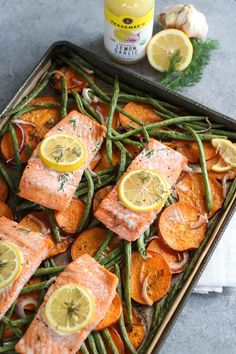 One-Pan Salmon and Veggie Bake