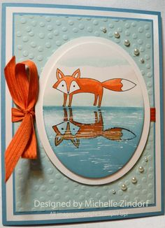 Fox Reflection Stampin' Up! Card created by Michelle Zindorf using the stamp set Life in the Forest