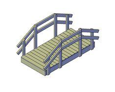 Download Hier Gratis Bouwplannen - Doe Het Zelver - Alles over bouwplannen en klustips Woodworking Plans, Woodworking Projects, Garden Bridge, Home Furniture, Outdoor Structures, How To Plan, Diy, Design, Log Projects