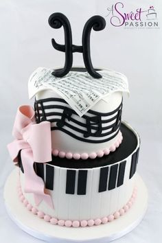 We loved creating this musical themed birthday cake for a music lover turning The sheet music was custom made for the guest of honor. Good Cake for holiday Music Themed Cakes, Music Cakes, Themed Birthday Cakes, Birthday Music, Pink Birthday, 13th Birthday, Happy Birthday, Fondant Cakes, Cupcake Cakes
