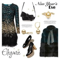 """""""NYE Dance Party"""" by pearlparadise ❤ liked on Polyvore featuring moda, Elie Saab, contestentry, pearljewelry, nyestyle y pearlparadise"""